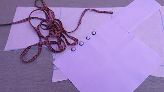 रंगीन पाइपिंन ओर piping वाले बटन से नैक के लिये बना खूबसूरत डिज़ाइन / Beautiful Pipin neck Design