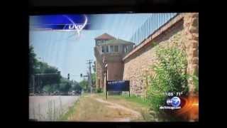 Old Joliet Prison Fire 7-25-13 Joliet, IL.