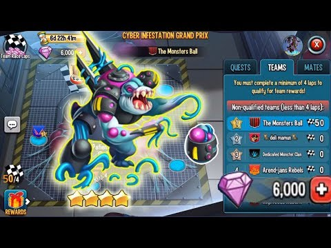 Monster Legends Patient Cyber Infestation Grand Prix Team Race Analytic And Combat Pvp