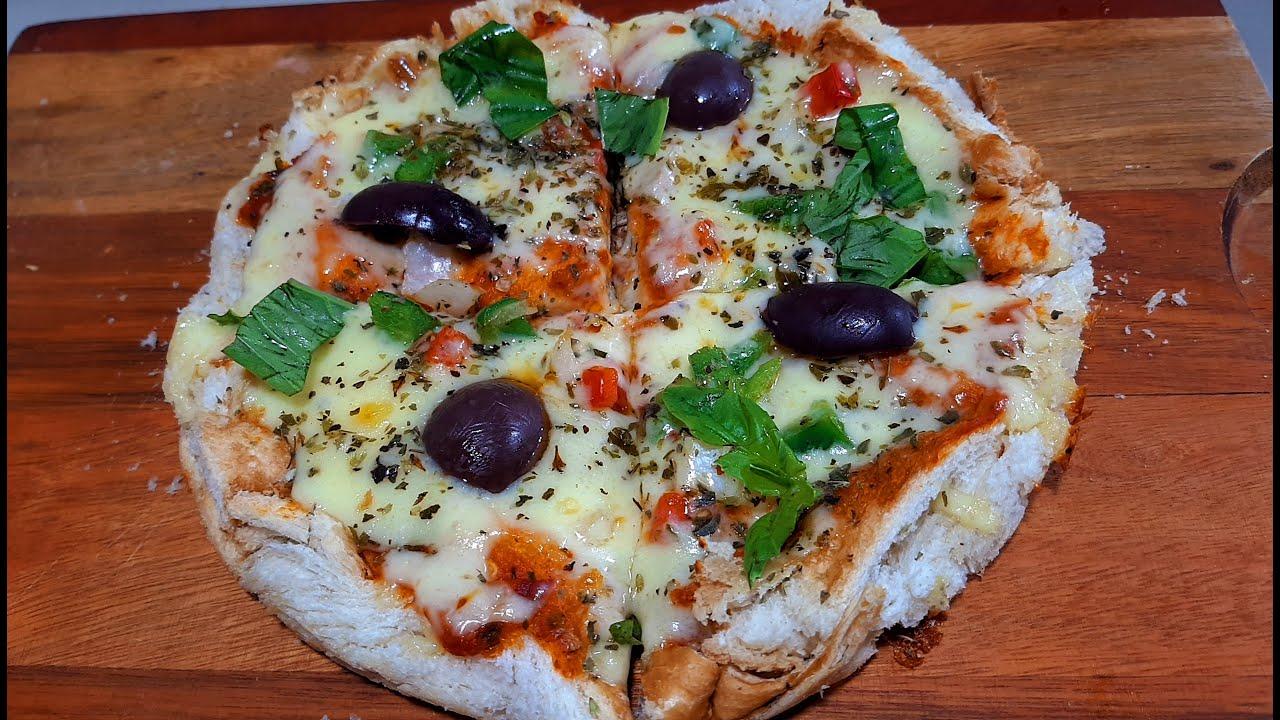 Pizza sin masa en unos minutos..sin esperas