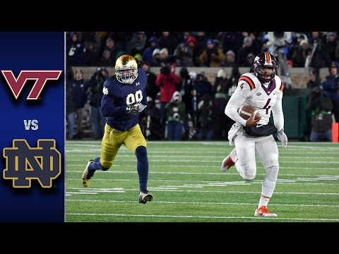 Virginia Tech vs. Notre Dame Football Highlights (2016)