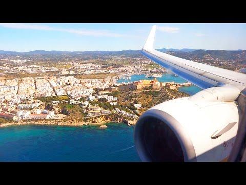 Ryanair Boeing 737 - Landing at Ibiza Airport Runway 24