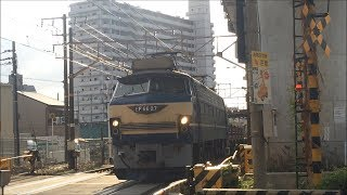 JR貨物 配6866レ EF66-27 ゼロロクニーナ@北方貨物線・能勢街道踏切