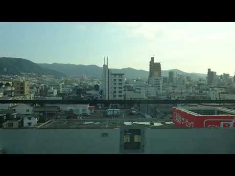【山陽新幹線】のぞみ12号 車窓 徳山駅停車 2017元旦 #HIROYUKIZ