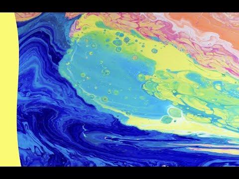 HUGE Ocean Wave!  Dirty Flip Cup Acrylic Pour