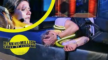 Schwerer Sturz von Olympiasiegerin Sandra Kiriasis am Walzwerk! | Renn zur Million | ProSieben