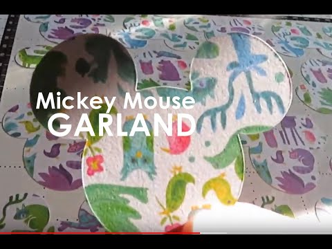 DIY Mickey Mouse Paper Garland | Disney World  using Brother Scan N Cut Room Decor