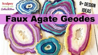How to Make Faux Agate Geode Slices with Sculpey III Polymer Clay + 9 Project Ideas