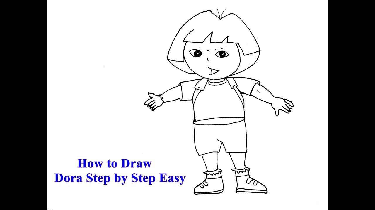 Uncategorized How To Draw Dora Step By Step how to draw dora the explorer step by youtube step