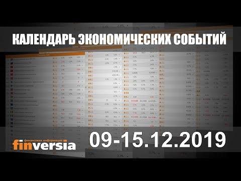 Календарь экономических событий. 09-15.12.2019 от Finversia.ru