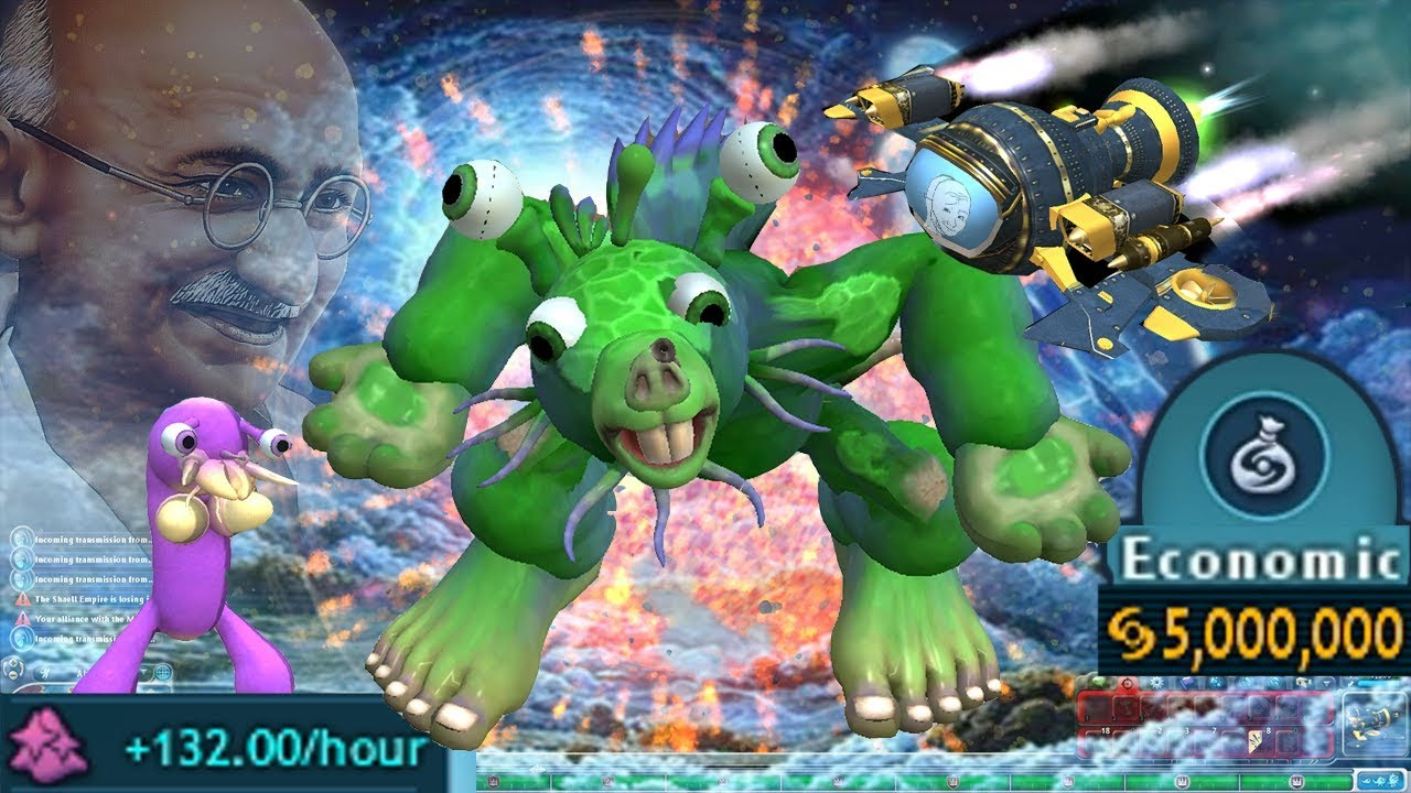Spore Pacifist Run | Rise of the Ghandicus ☮