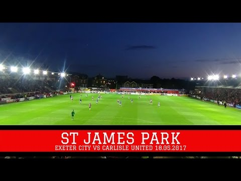 GROUNDHOP AT EXETER CITY VS CARLISLE UNITED | LAST MINUTE WI
