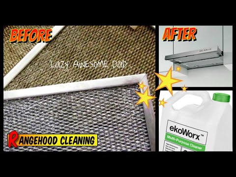 How to clean greasy stove range hood filter and fan with toxic and fume free EkoWorx. Does it work?