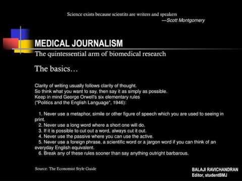 MEDICAL JOURNALISM  / MEDICAL JOURNALISM T