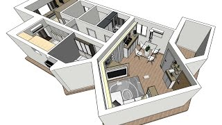How to make 3D rendering by SketchUP & SU Podium