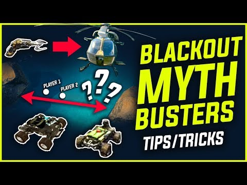 BLACKOUT : MYTHBUSTERS - Recon Cars, Swim Speed & Grapple Guns