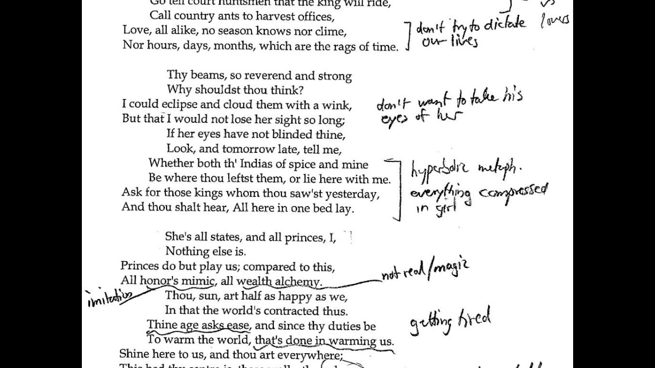 an analysis of john donnes John donne's poems are similar in their content they usually point out at same topics like love, lust, sex and religion only they are dissimilar in the feelings they express these subjects reflect the different stages of his life: the lust of his youth, the love of his married middle age, and.