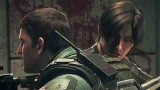 Resident Evil: Vendetta (Hall Zombie fight with Chris & Leon)