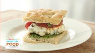 Pesto Chicken Burgers - Everyday Food with Sarah Carey