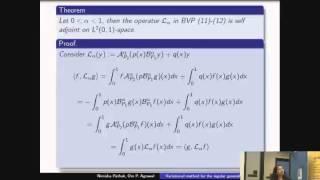 Variational method for the regular generalized fractional Sturm – Liouville problem - Nimisha Pathak