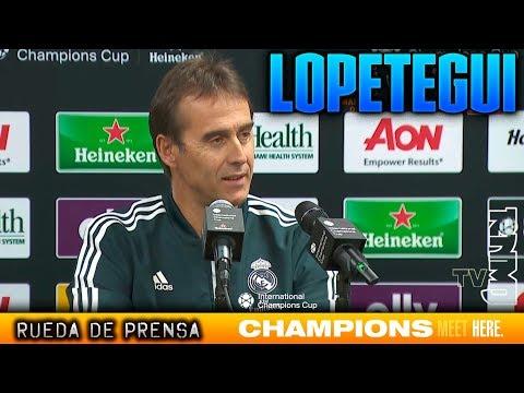 Rueda de prensa de Lopetegui previa Manchester United - Real Madrid | IC...