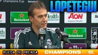 Rueda de prensa de Lopetegui previa Manchester United - Real Madrid | ICC 2018
