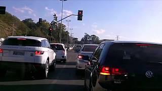Driving Downtown Belo Horizonte city, Brazil | HD