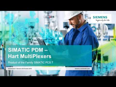 How To Use Siemens SIMATIC PDM With Wireless HART And Multiplexers