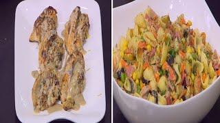 صدور الدجاج باللحمة الباردة - سلطة مكرونة - خبز بالثوم و الزبدة | مغربيات حلقة كاملة