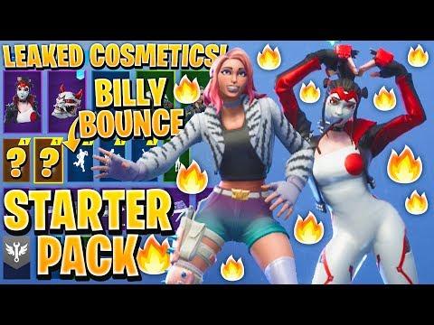 *NEW* All Leaked Fortnite Skins & Emotes..! BILLY BOUNCE (Starter Pack, Woah Emote, Glitter, Takara)