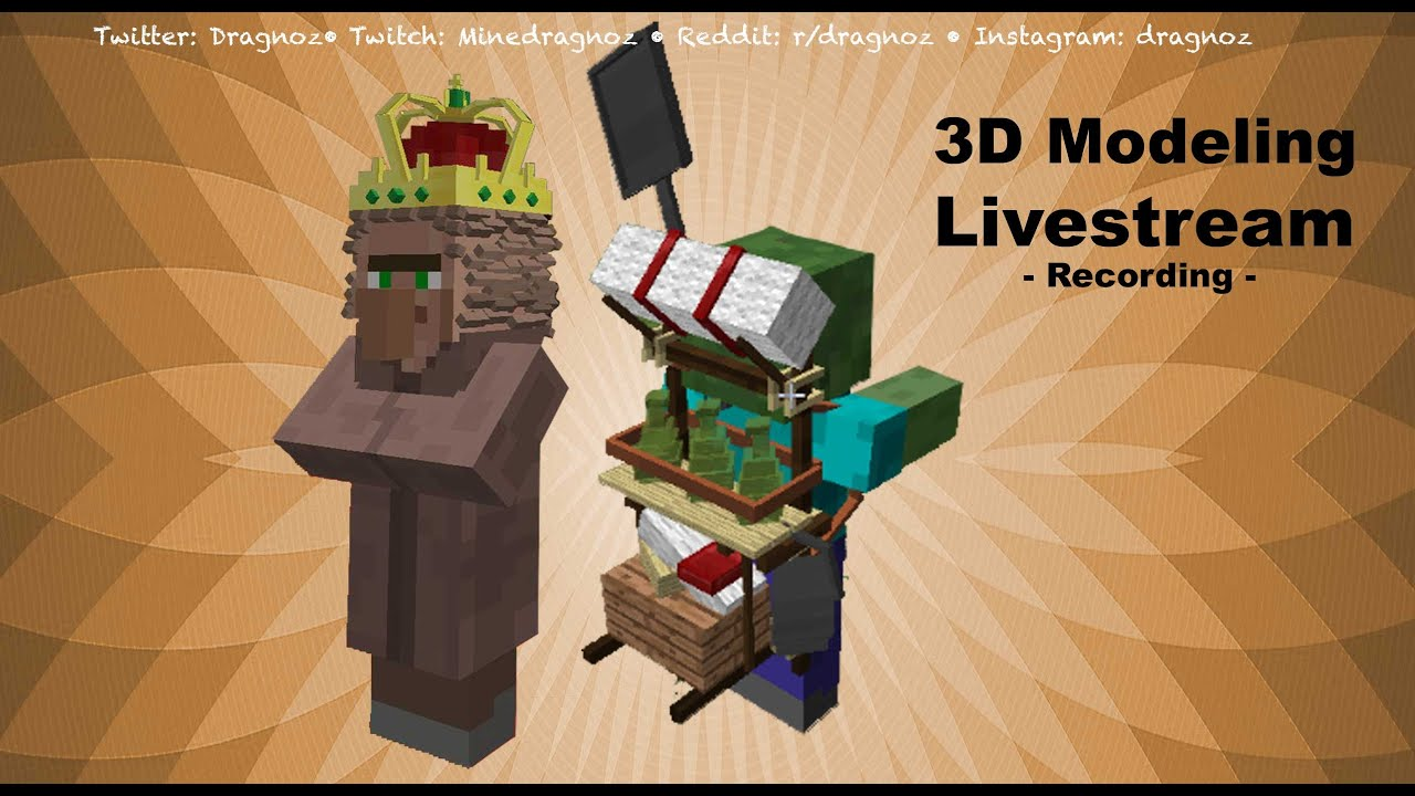3D model Crown and backpack creation Livestream