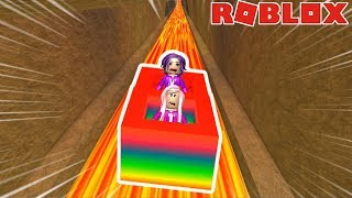 Roblox: Ride Slide Down In A Box 999,999,999 Feet / WHAT'S AT THE END?!
