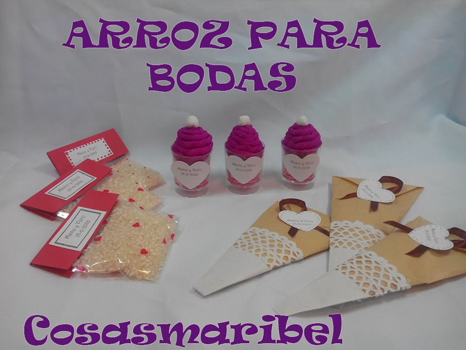Bodas originales tres ideas para el arroz youtube for Regalos originales para bodas de amigos
