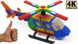 ASMR - DIY How To Make Helicopter with Magnetic Balls Satisfaction 100% | Magnetic Man 4K