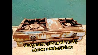 Restoration Old and Rusty Gas stove | Antique stove | Kitchen Tools Restoration