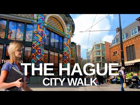 [4K] THE HAGUE, (DEN HAAG) - City Walk