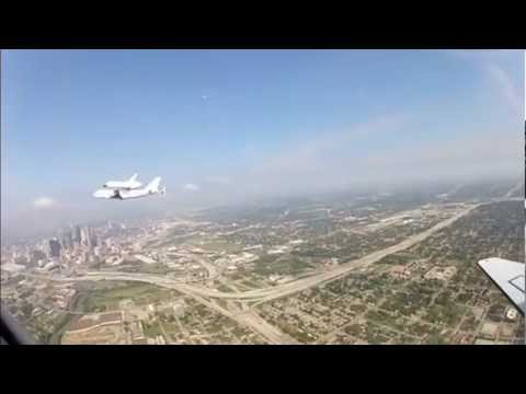 Awesome Space Shuttle Endeavour Flight Over Houston Texas Enhanced NASA Footage