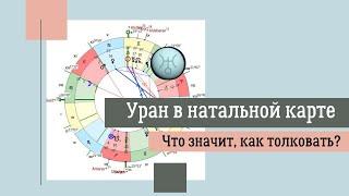 Уран в натальной карте. Что значит, как толковать?