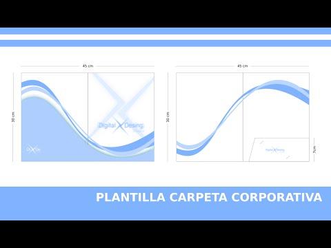 PLANTILLA CARPETA CORPORATIVA INKSCAPE + LINK DESCARGA