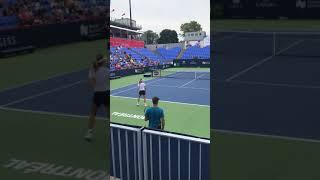 Simona Halep practice in Montreal 2018
