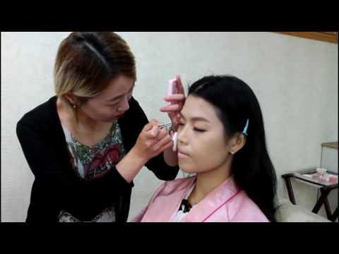 莎拉韓情   首爾江南狎鷗亭化妝美髮體驗 - YouTube