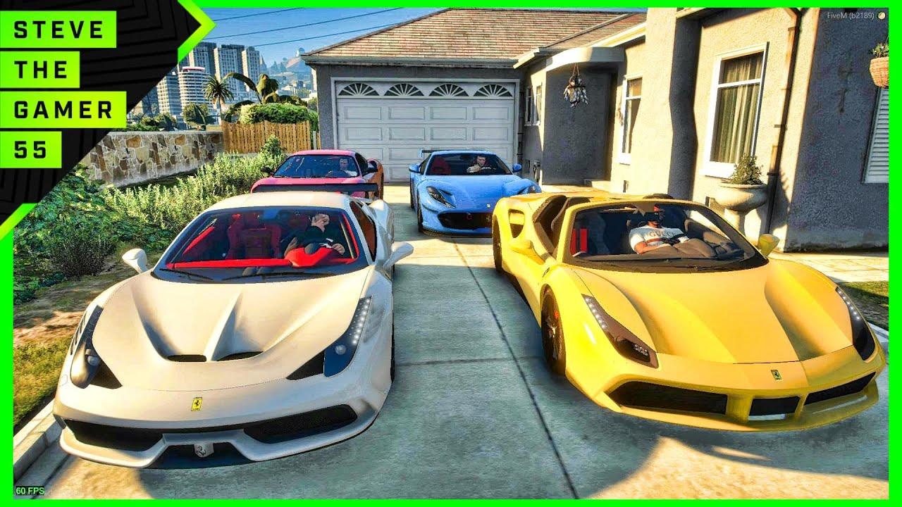 Stealing a Police car with Ferrari| GTA 5 RP Civilian| SFLRP | GTA 5 Roleplay! 4K