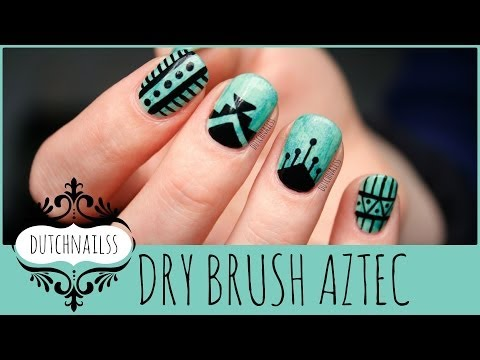 #52 ~Dry brush Aztec nails~