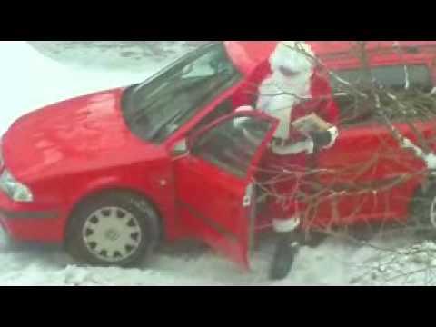 Der Weihnachtsmann Kommt Mit Dem Auto Youtube