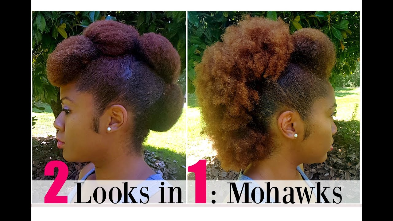 Natural Hairstyles Mohawk Frohawk Naturally Michy Youtube