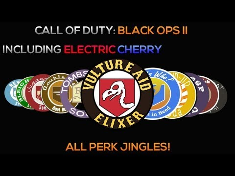 Black Ops 2 Zombies - All Perk Jingles Including Electric Cherry! (Verruckt-Buried)