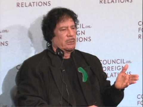 Qaddafi discusses Iran, Terrorism with CFR