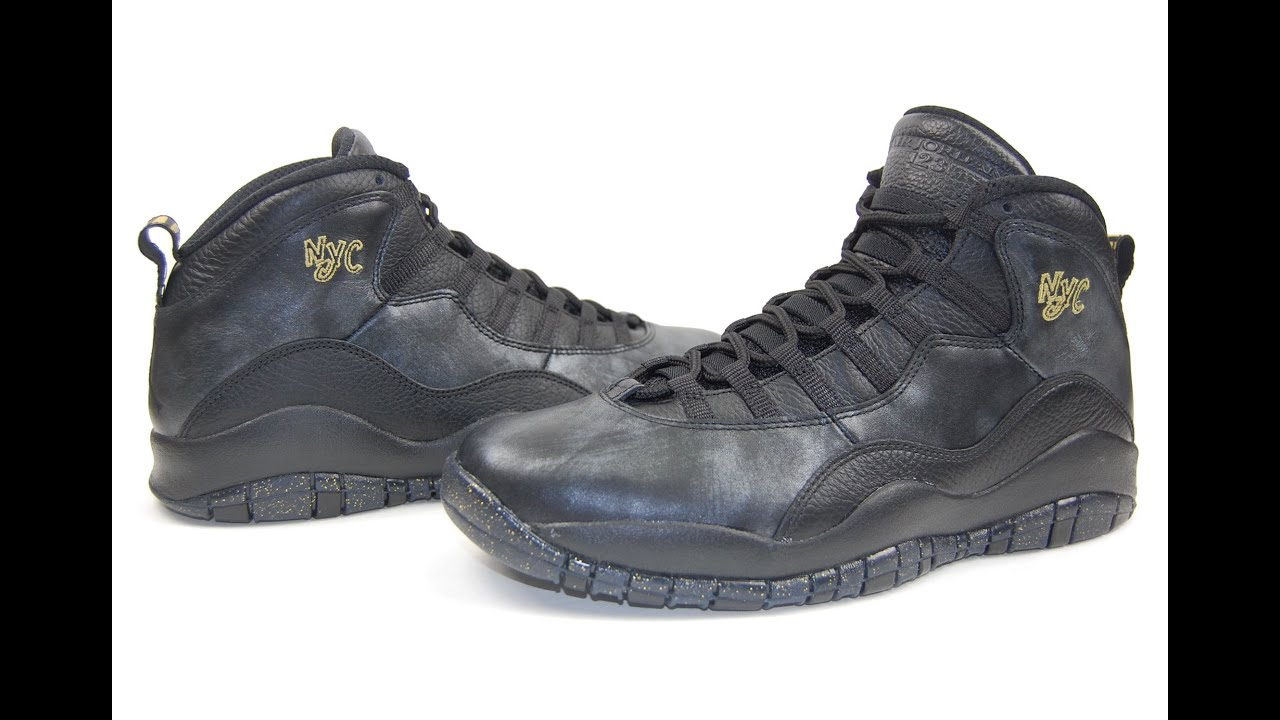 26d854257a51 Air Jordan 10 NYC City Pack 2016 Review - YouTube