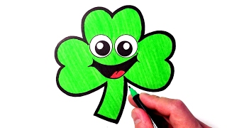 How to Draw a Cute Shamrock