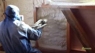 видео Утепление стен пенополиуретаном своими руками